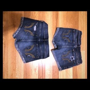 2 Jean shorts from Hollister